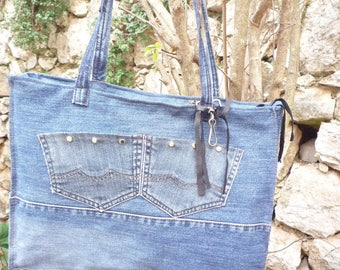 Great bag zipped jeans multi pockets