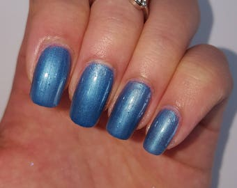 BLUE NAIL POLISH 5 Free Handmade Indie Shiny Nail Polish Animal Cruelty Free Vegan Classy Cute Pretty Gifts for her Gifts under 10