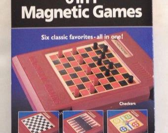 Vintage 1993 6 IN 1 TRAVEL GAMES by Pressman