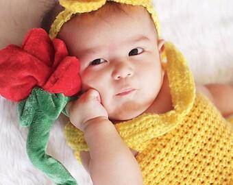 Disney Princess Belle Crochet Baby Costume