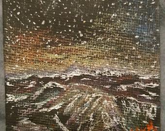 Space mountain print
