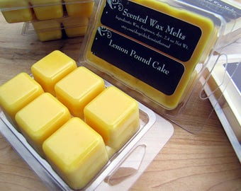 Lemon Pound Cake, TRIPLE SCENTED Soy Wax Melts, Tarts, Scented Candle Melts