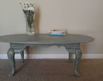 Distressed Oval Table