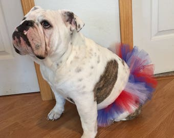 4th of July Tutu For Dogs/Red, White & Blue Tutu For Dogs/Holiday Tutu/Tutu For Dogs