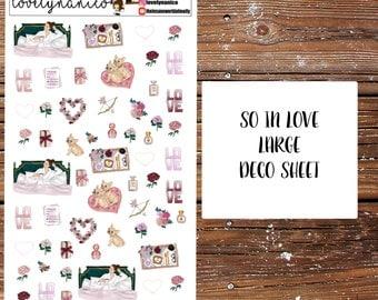 So In Love Deco Sheet