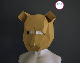 Papercraft corvo mask template