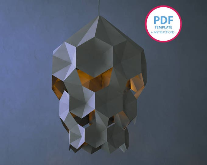 PDF templates, Papercraft,Lampshade, DIY,paper Pattern, Masks Pattern, Wall decor, paper lampshade, paper decoration, pdf pattern, decor