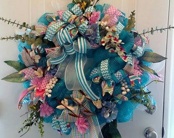 Blue Summer Wreath