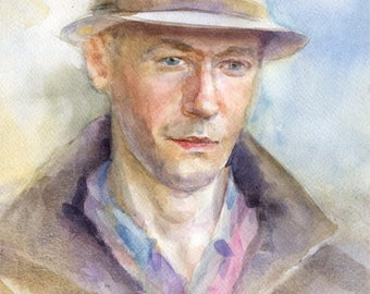 Custom watercolor portrait from your photo