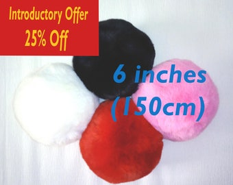 "25% Off Premium Bunny Tail 6"" (15cm) Soft Fluffy Faux Fur Bunny Rabbit Tail Plug In Various Colours.  Huge!!"