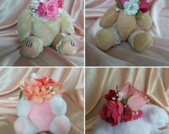 Teddy Bear Baby doll bouquet body cute and creepy decor