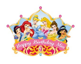 Birthday Crown Princesses Edible Image (FREE Shipping)