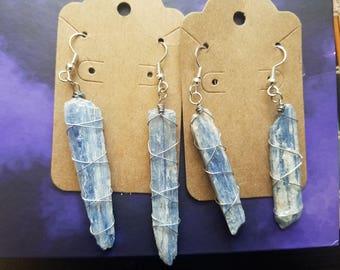 Blue Kyanite Earrings *Raw* ( 2 SETS!)