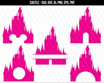 Disney svg files, Disney Castle SVG, Disney clipart, Disney Trip SVG, monogram frame, Princess Castle Svg, Silhouette, cricut, Dxf, PNG