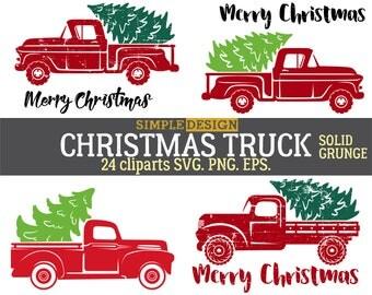 Сhristmas truck SVG, Tree truck SVG, Christmas tree truck, Christmas SVG, Old truck svg,Old truck tree svg, Vintage truck svg