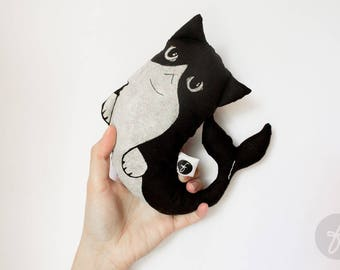 Little Kitty Whale | Plush-Pillow