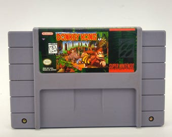 Super Nintendo Donkey Kong Country Game Authentic