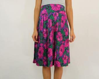 VINTAGE 70s FIFI Sydney Floral Skirt Size M-L 12 14