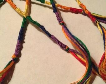 Rainbow - Chinese Staircase Friendship Bracelet