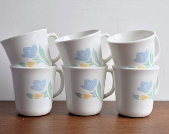 "Set of 6 Corning ""Friendship"" Cups /  Made in the USA"