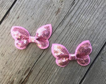 Pink Butterfly clip set
