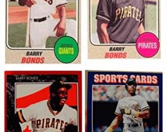 4 - Barry Bonds Odd-Ball Trading Cards Lot