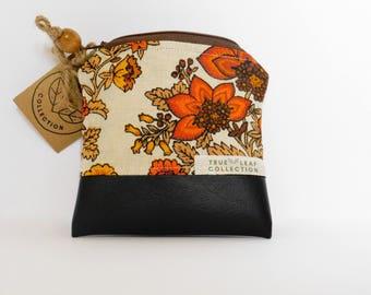 Coin Purse // Vintage Floral Print // True Leaf Collection