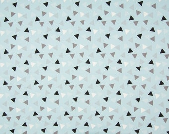Tricot, Jersey, blue and grey tricot, child material, fabric for children, triangle, baby blue fabric, triangle children fabric, Jersey