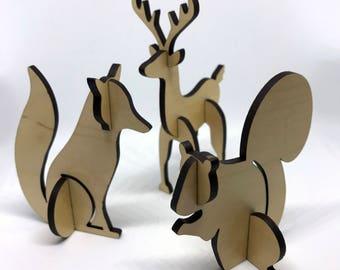 Woodland Animal Decorations