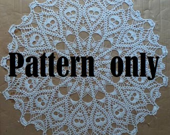 Crown of Skulls Doily Pattern - PDF - Downloadable pattern