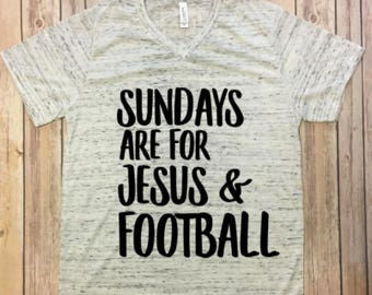 Sundays are for Jesus and Football V-neck