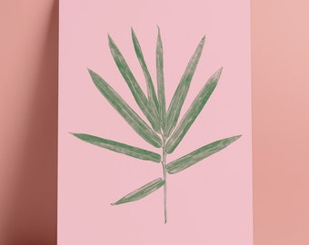 A3 Pink Palm Art Print