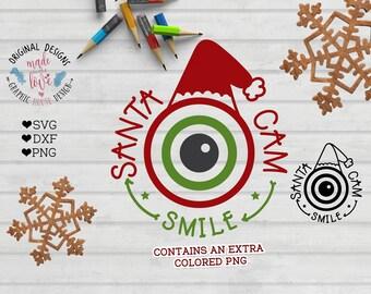 Santa Cam SVG File, Santa Cam Clipart, Santa Cam Clipart, Santa Cam Cut File in SVG, DXF, png, Christmas svg file, Christmas Cut files