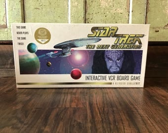 Original Star Trek Interactive VCR Board Game