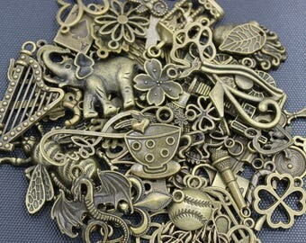 100pcs LIQUIDATION Assorted Antique Bronze Charms Much Cheaper Price