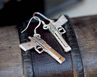 Semi Auto Pistol Earrings