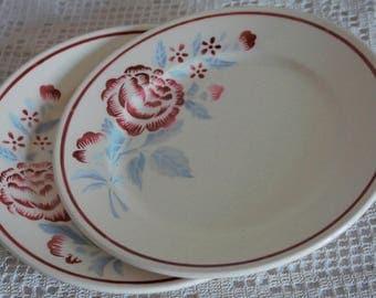"2 plates ""Antibes"", BADONVILLER - FRANCE, 40's."