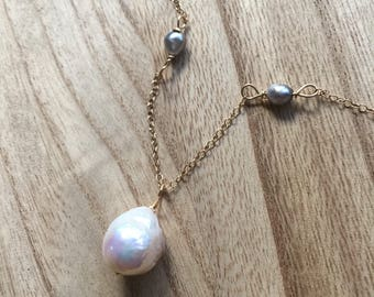 Edison and Keshi Pearl Necklace