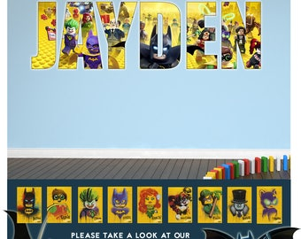 Lego Wall Decal Etsy - Lego superhero wall decals