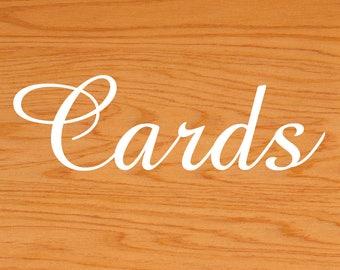 Cards Vinyl Sticker, Wedding Sign decal, Wedding Card Box Sticker, Script CARDS decal, Wedding Decor, Wedding Reception Sticker, Cards decal