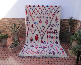 pink azilal authtentic rug moroccan berber