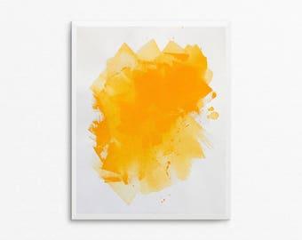 Original Abstract Painting, Abstract Art, Acrylic Painting, 8x10 Painting, 8x10 Art, Yellow Painting, Yellow Art, Abstract Painting