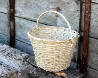 Wicker basket rustic,handmade wicker basket