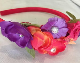 Child headband with flowers, hair accessories