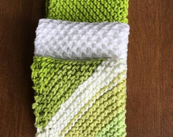 Dish Cloths-Hand Knit-100% Cotton