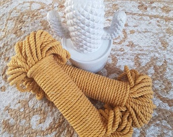 Mustard Macrame Rope/Cord