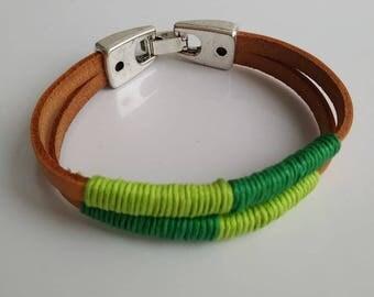 Bracelet man. Leather bracelet.
