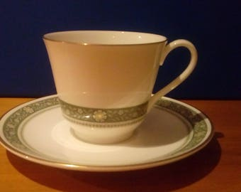 Rondely English Fine Bone China H5004 cup and saucer