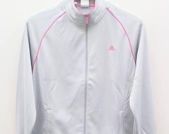Vintage ADIDAS Small Logo Sportswear Gray Zipper Jacket