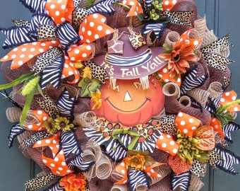 Fall Wreath, Thanksgiving Wreath, Halloween Wreath, Autumn Wreath, Fall Decor, Thanksgiving Decor, Halloween Decor, Autumn Decor, Pumpkin
